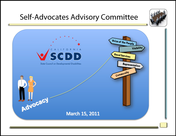 Self Advocates Advisory Meetig March 2011