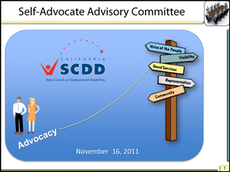 Self Advocates Advisory Meetig November 2011