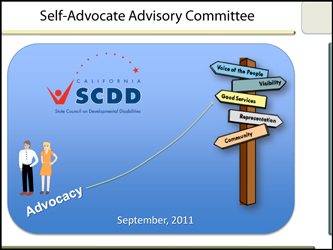 Self-Advocate Advisory Committee Meeting September 2011