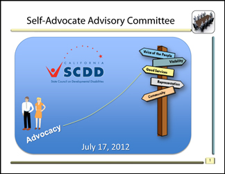 Self Advocates Advisory Meeting July 2012